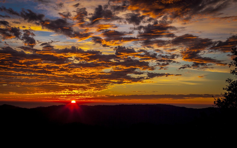 Sunset, Santa Cruz Mountains, 12/17/2013