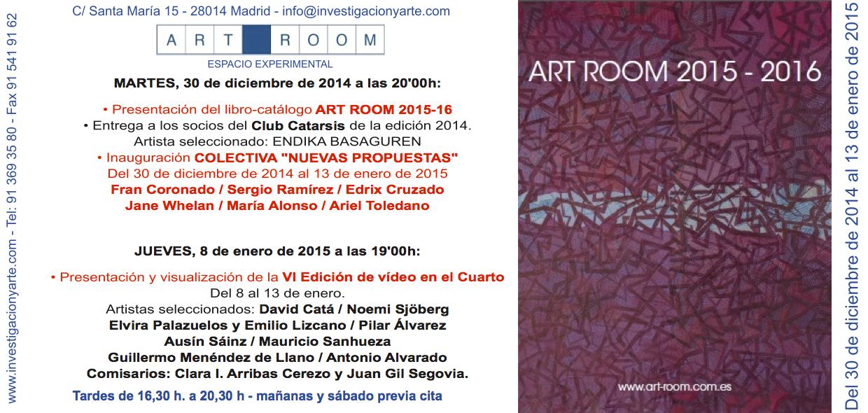 """Invitation card to the exhibition """"Nuevas Propuestas"""" at the ART ROOM in Madrid, Spain"""