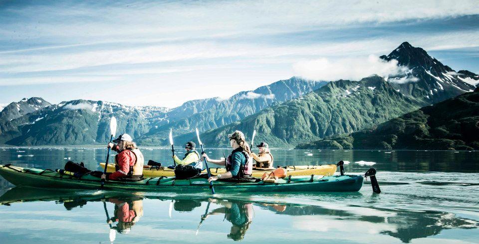 Kayaking in Aialik Bay