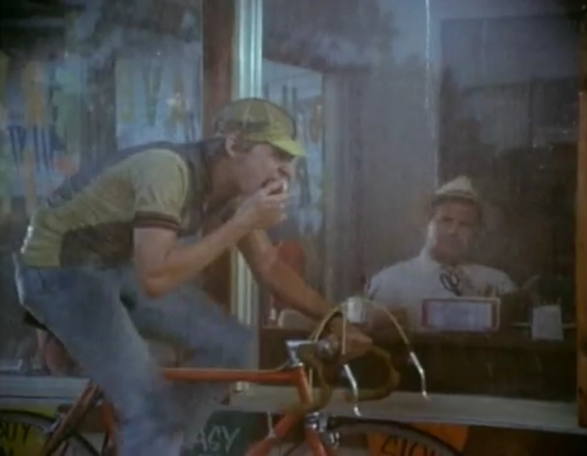 """The famous scene in"""" Breaking Away """" where Dave Stoller rides rollers in the rain while eating an apple. This is an advanced maneuver.                              0    false          18 pt    18 pt    0    0       false    false    false                                           /* Style Definitions */ table.MsoNormalTable {mso-style-name:""""Table Normal""""; mso-tstyle-rowband-size:0; mso-tstyle-colband-size:0; mso-style-noshow:yes; mso-style-parent:""""""""; mso-padding-alt:0in 5.4pt 0in 5.4pt; mso-para-margin:0in; mso-para-margin-bottom:.0001pt; mso-pagination:widow-orphan; font-size:12.0pt; font-family:""""Times New Roman""""; mso-ascii-font-family:Cambria; mso-ascii-theme-font:minor-latin; mso-fareast-font-family:""""Times New Roman""""; mso-fareast-theme-font:minor-fareast; mso-hansi-font-family:Cambria; mso-hansi-theme-font:minor-latin;}"""