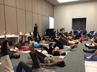 Practical section of Hard Core: Pilates for Physiatrists, at AAPM&R 2014