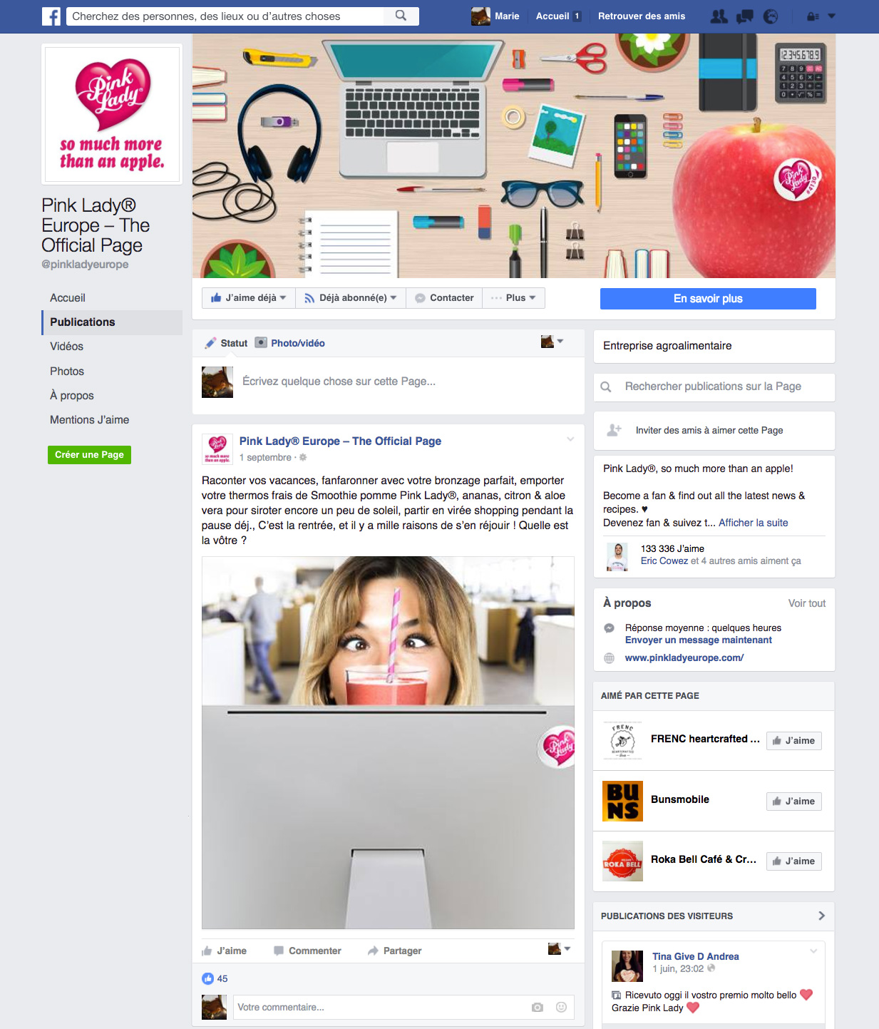 Pink Lady Facebook Page