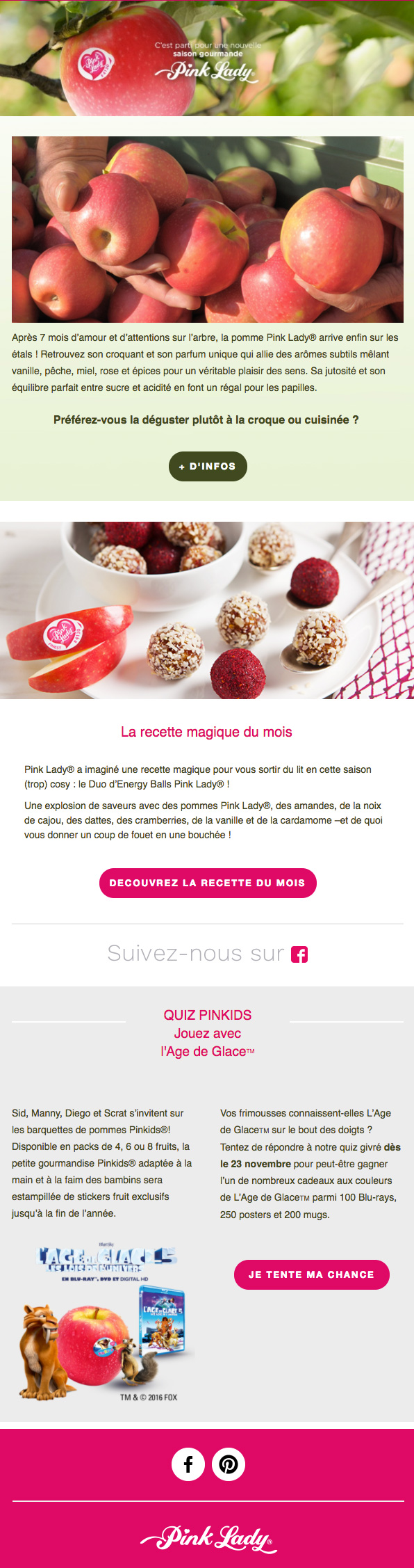 Newsletter Pink Lady