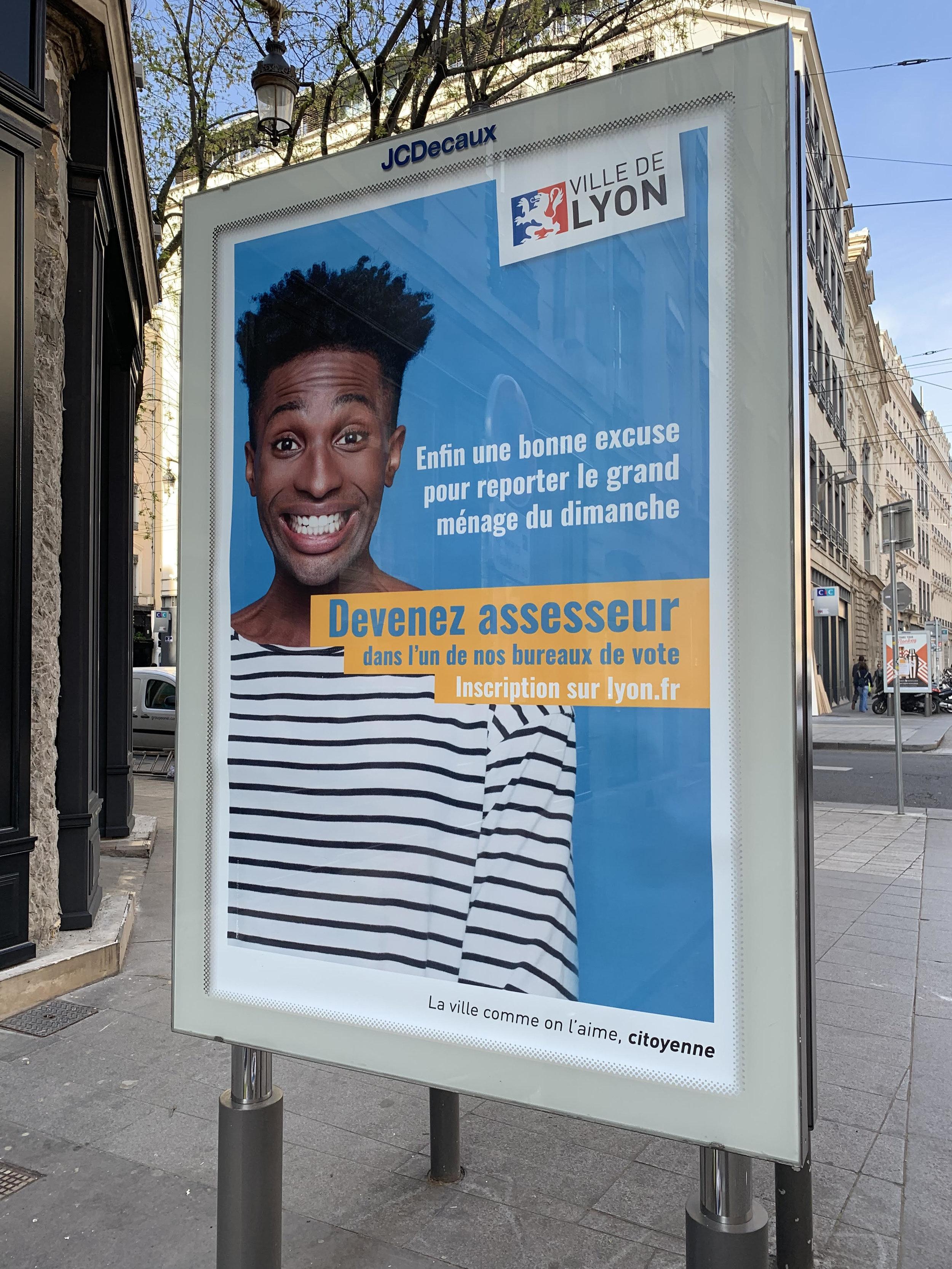 Recrutement des assesseurs pour la Ville de Lyon - Copywriter : Marie Pottiez