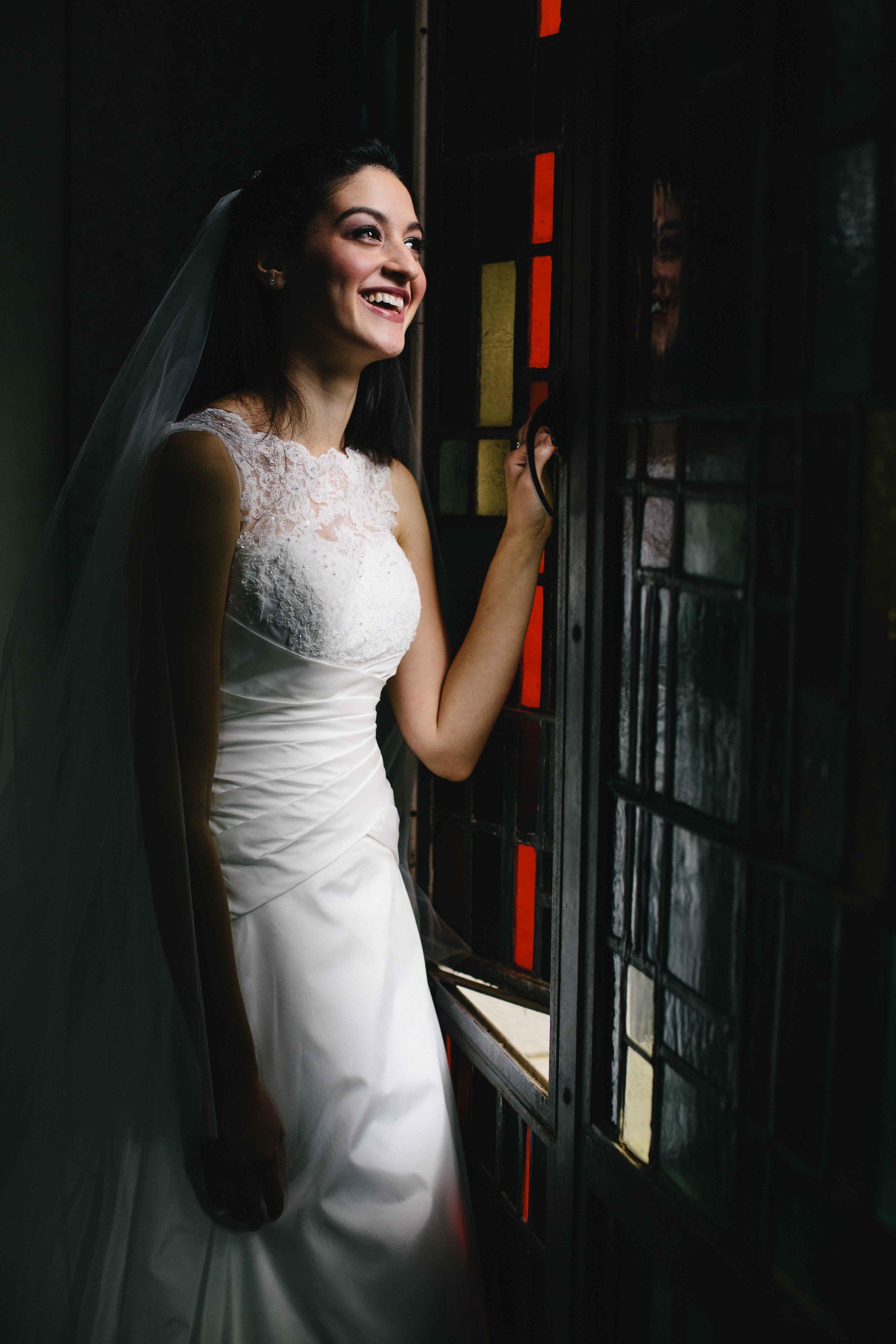 Stained Glass Bridal Portrait