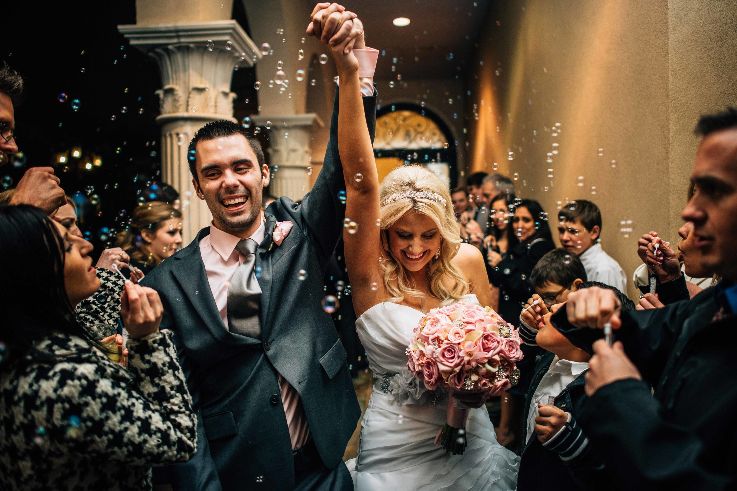 Wedding Exit Bubbles