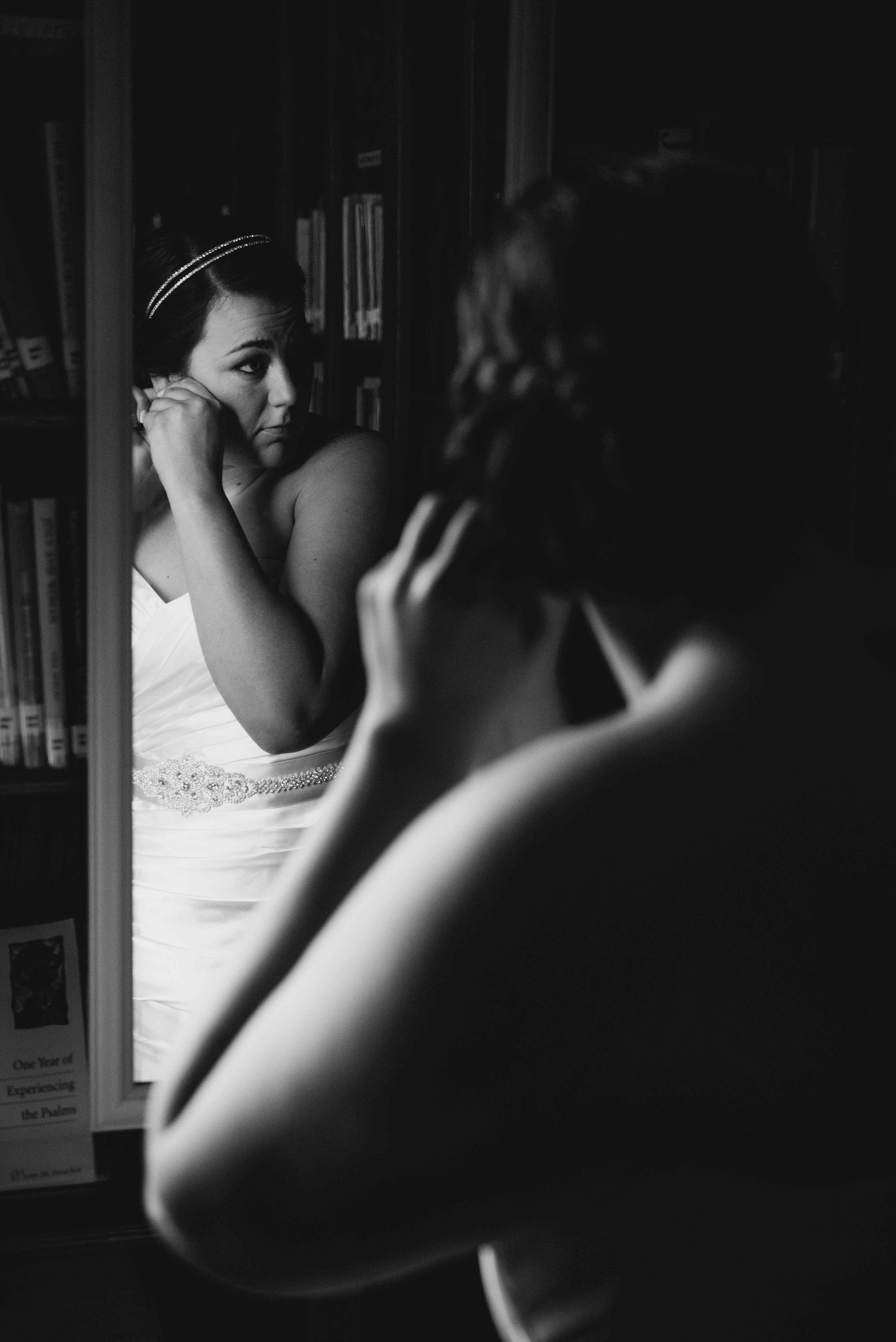 Dallas Wedding - Heritage Springs - Katie and Dustin - Bridal Prep Mirror