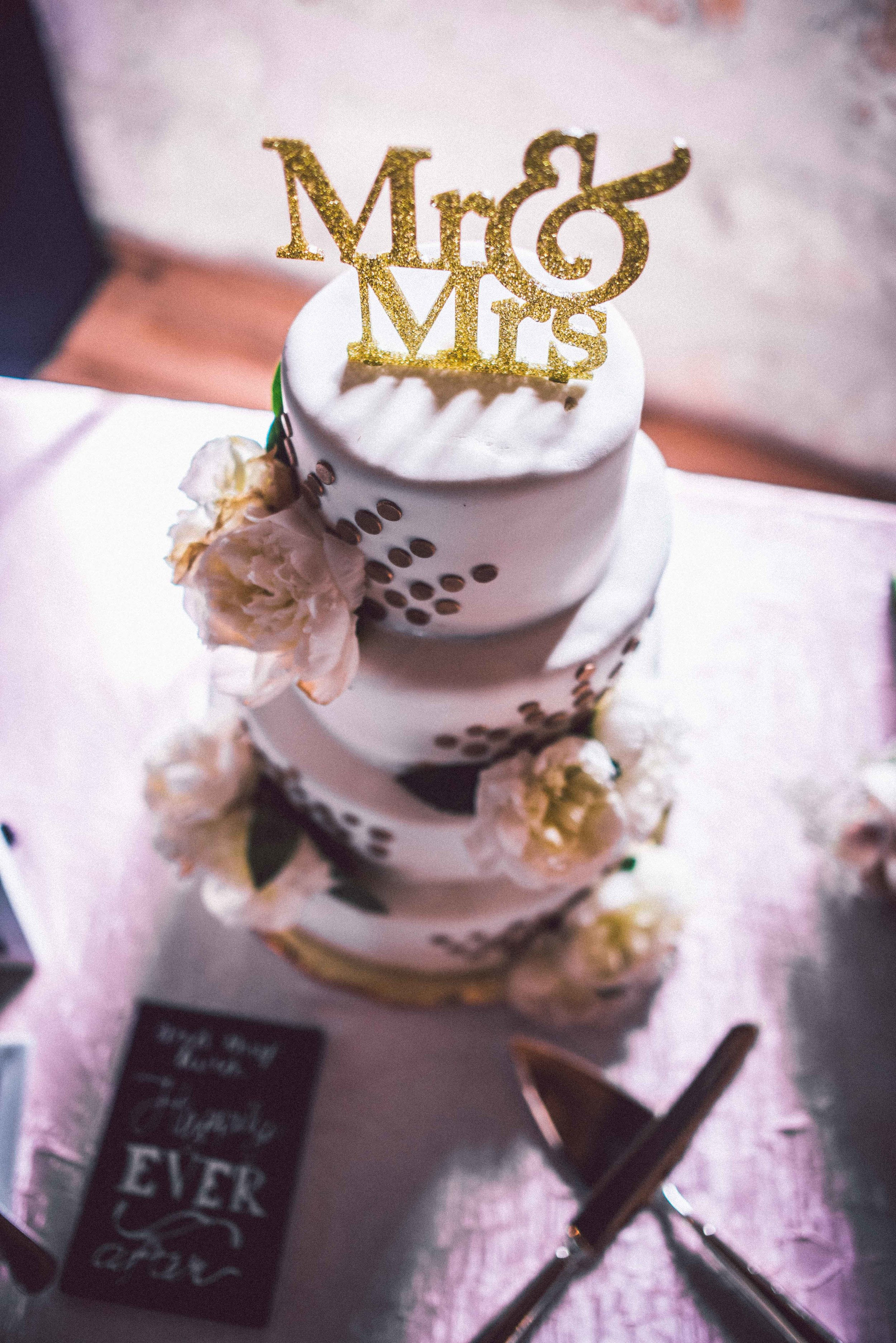 Dallas Wedding - Heritage Springs - Katie and Dustin - Cake Topper