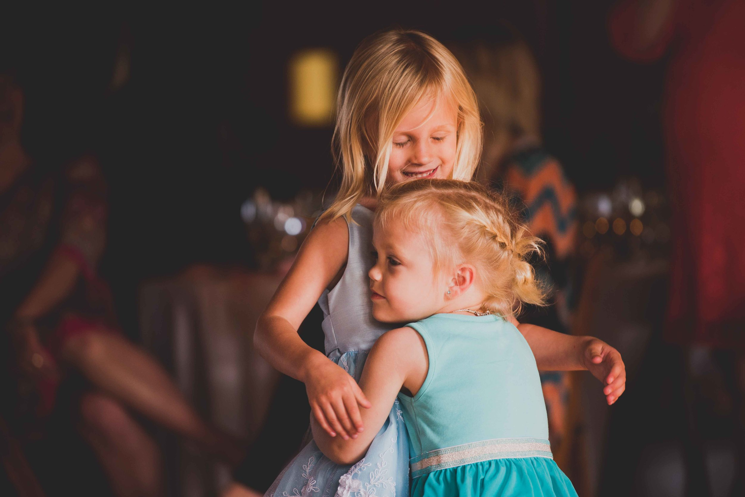 These two girls were having so much fun on the dance floor!
