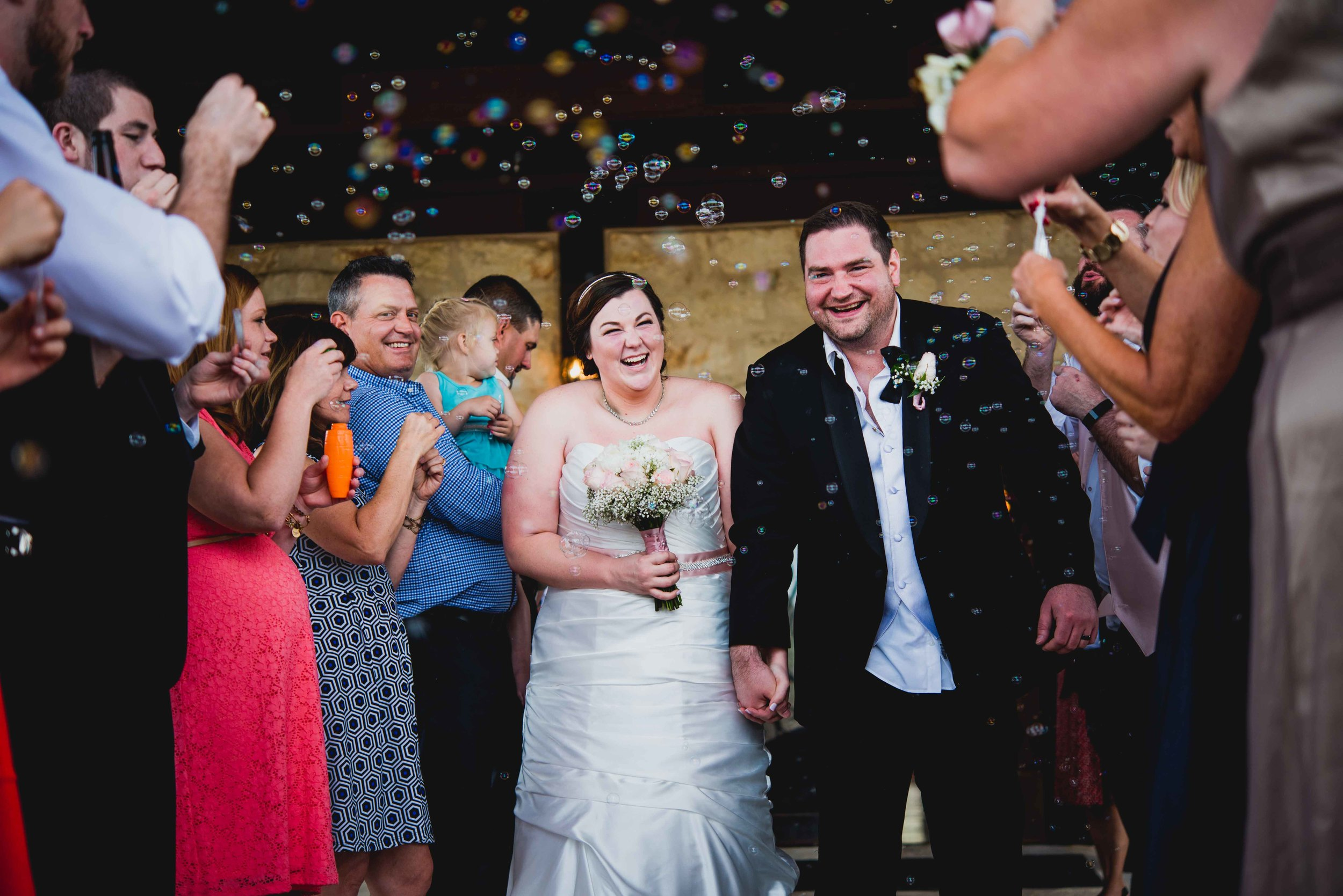 Dallas Wedding - Heritage Springs - Katie and Dustin - Bubble Exit