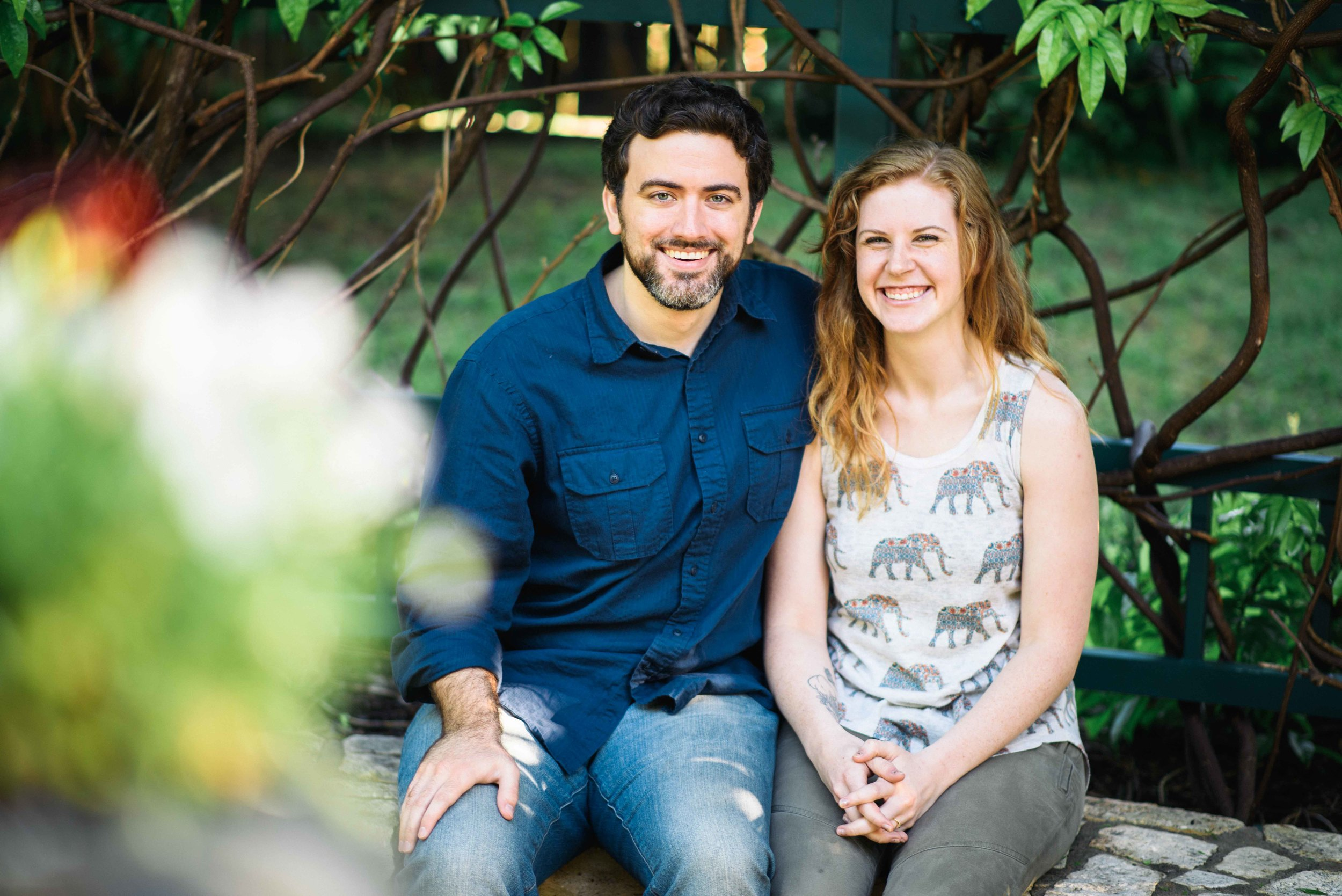 Fort Worth Botanical Gardens Engagement - Cody and Kathryn