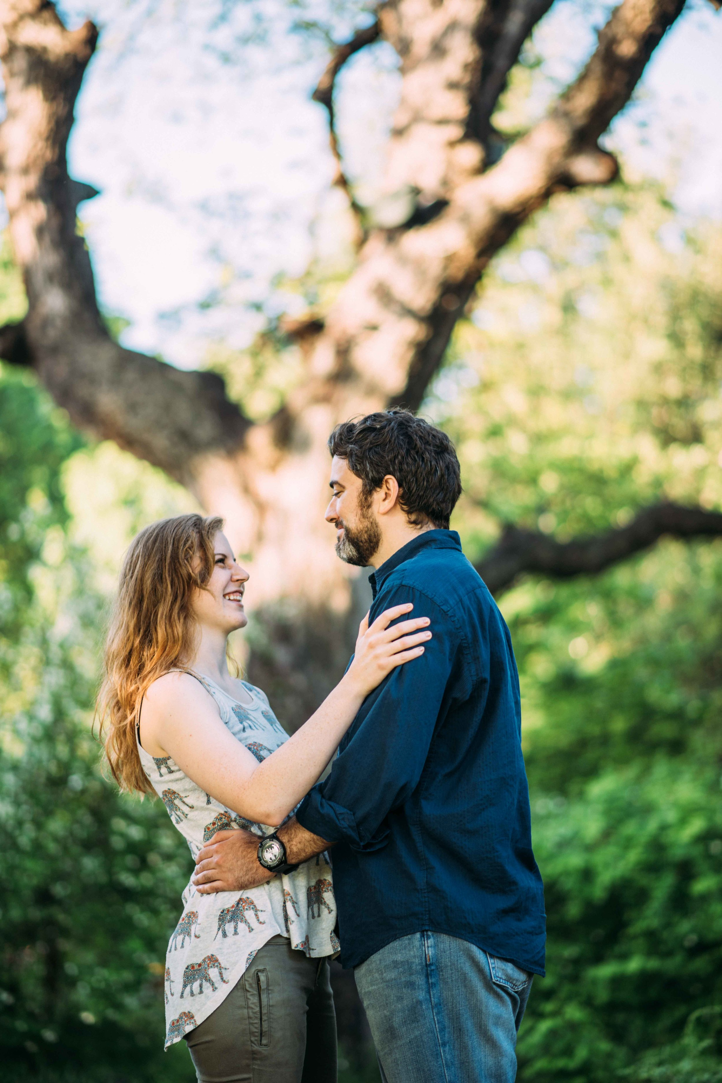 Fort Worth Botanical Gardens Engagement - Cody and Kathryn  - Fort Worth