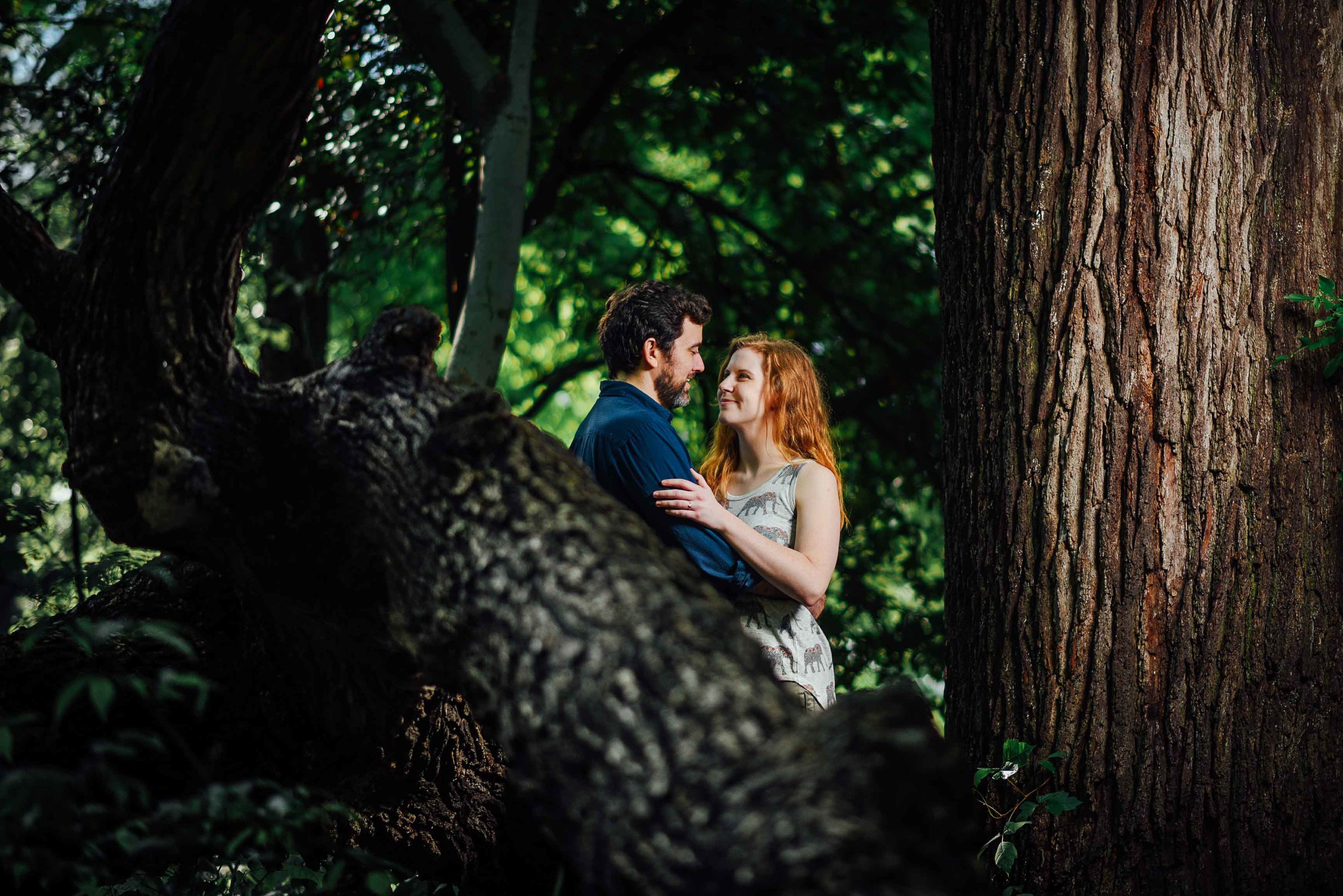 Fort Worth Botanical Gardens Engagement - Cody and Kathryn - Fort Worth Trees