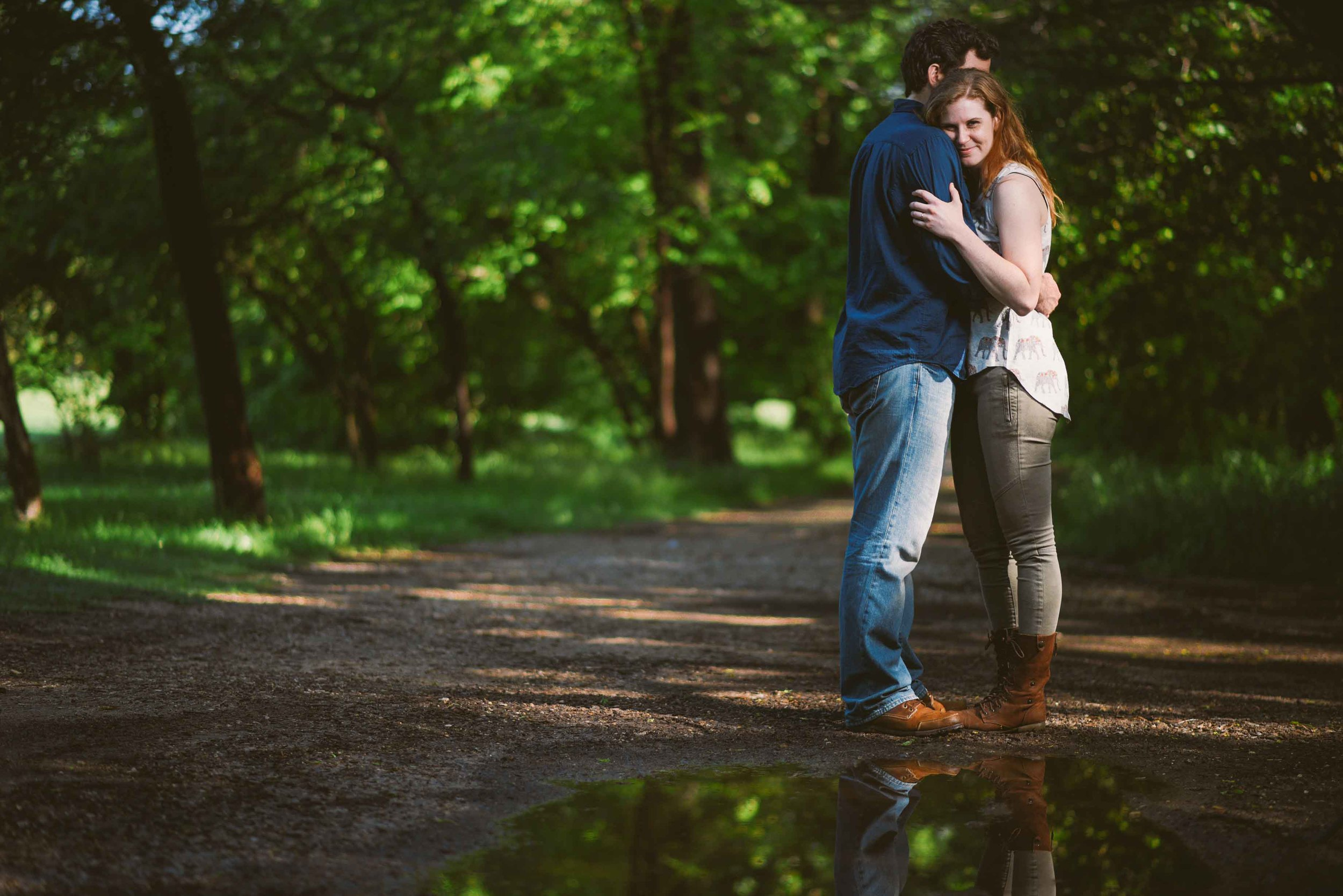 Fort Worth Engagement Photos - Cody and Kathryn  - Reflection