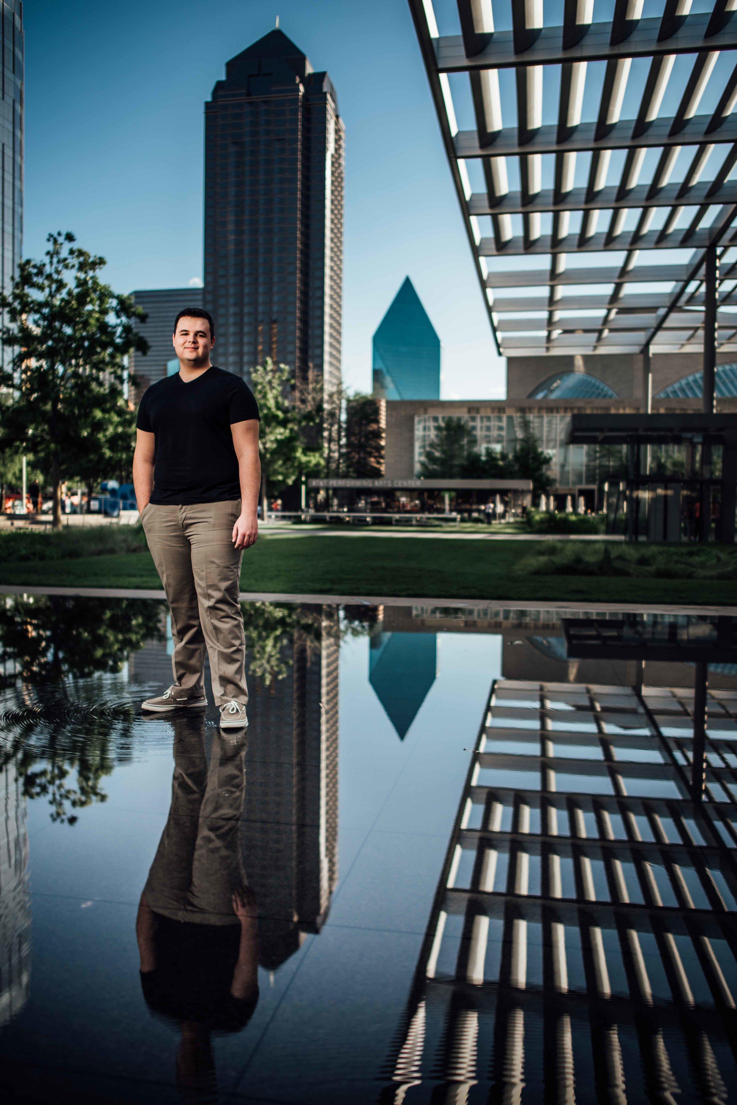 Marcus Senior Pictures - Logan - Downtown Dallas
