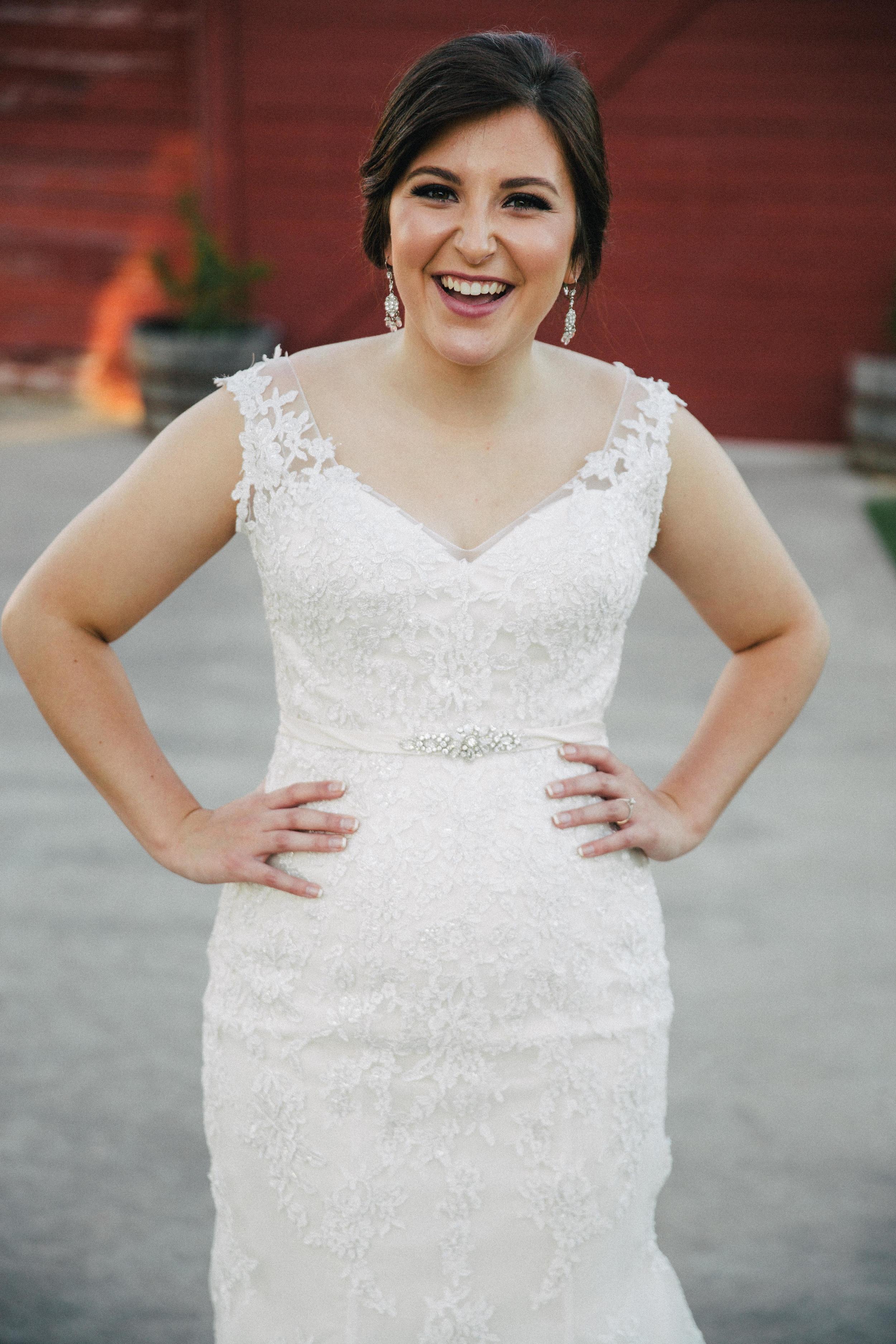 Laughing Bridal Portrait