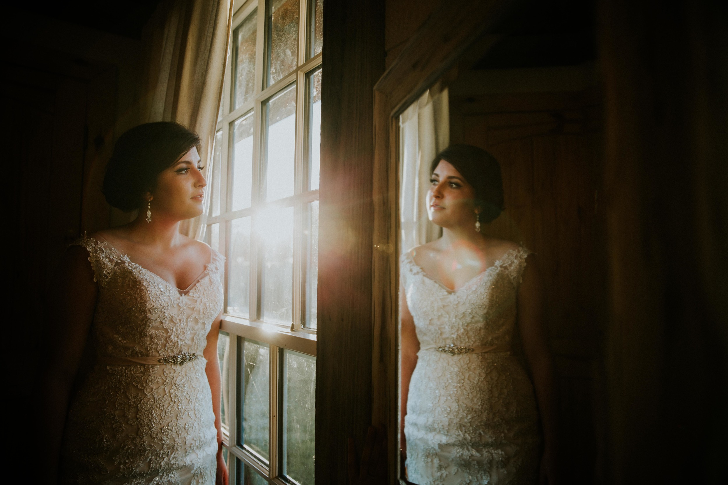 Our day finished with an absolutely incredible sunset streaming through the bridal suite at Rustic Grace Estate, resulting in this final image of the day.