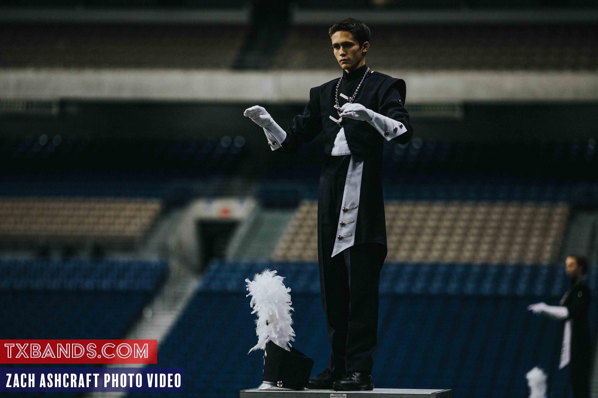 A shot I got of Cameron conducting the Bell Band at BOA San Antonio this past fall
