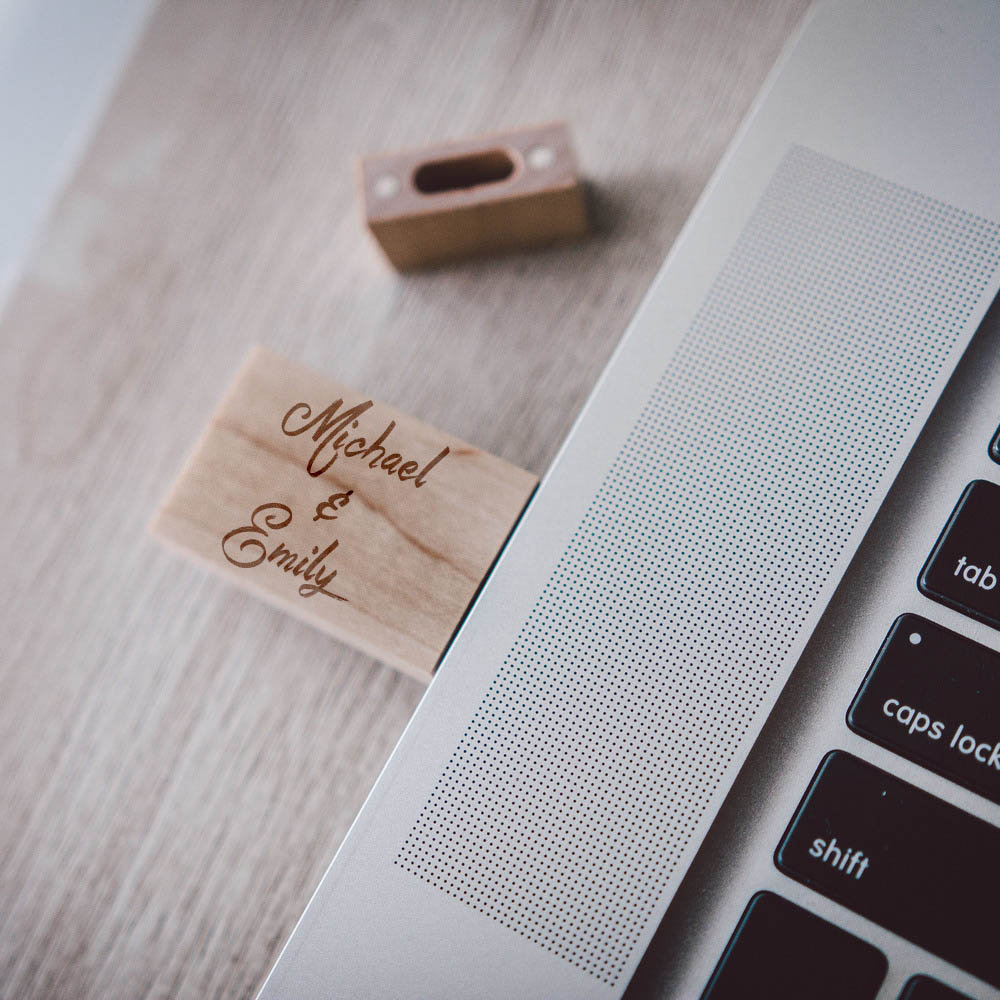 Engraved Wooden USB Drives