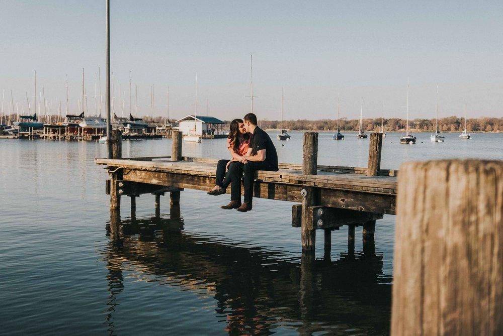 White Rock Lake Engagement Photos