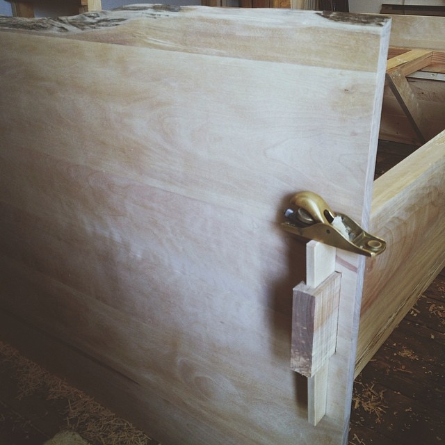 Birch Bed. I'm excited about how these huge wedged mortis and tenon joints turned out. One of those projects I wish could last a little longer. @norcon