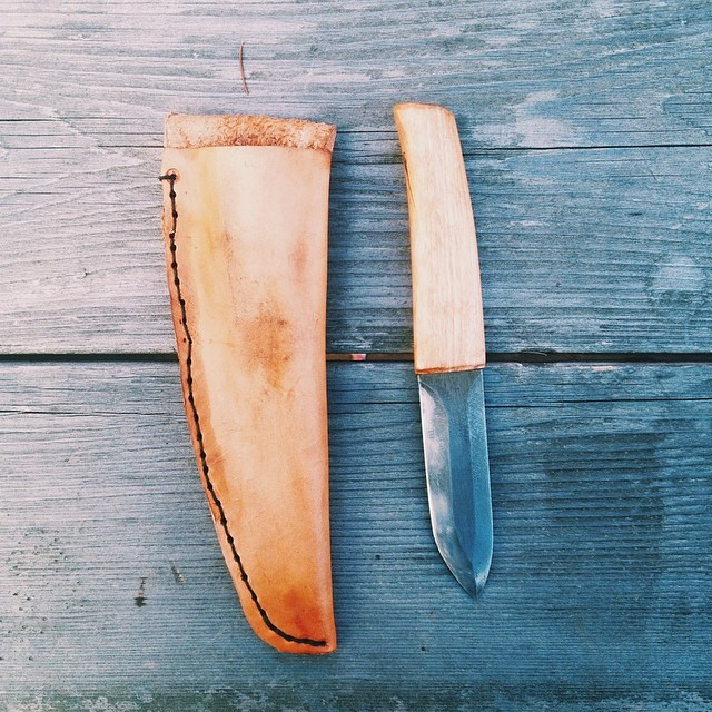 I made a knife with my friend #stephenzenga. He's a metal working whizz. Call this the Kaslo Camper.
