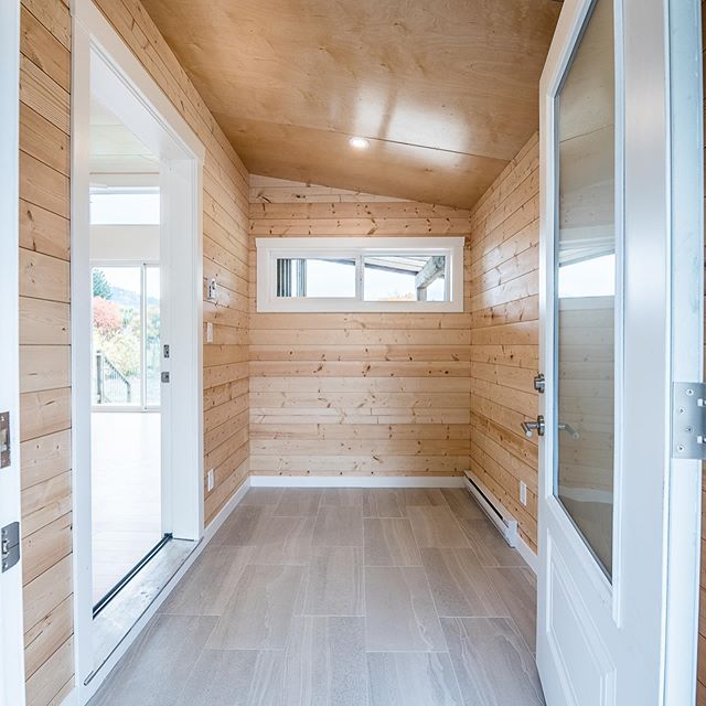 The insides of a new home we've just completed. Small homes mean they have to be beautifully and painstakingly well laid out. Features include Birch paneled ceilings, Western Maple floors, and lots of strategically placed windows for natural light. #smallhomes #customwoodwork #kaslo