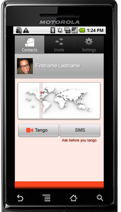 Tango's Android app