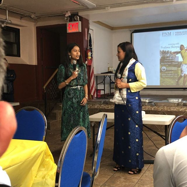 """Sharing a few sound bites from a Day with Pratima and United Sherpa Association in NYC. Special thanks to @arpanarayamajhi for being there for her, all should heed her advice 🔊. Also featured a couple words from host @sherpamann and delicious food by @himalayan_yak. Bonus wave 👋🏻 (sound on for bonus 😂). Check out my recent posts for more on this night and the power house of people that made it possible.  Two weeks ago, @pas4ang @sherpamann and many more of the United Sherpa Association hosted a """"Day With Pratima Sherpa"""". With generous contributors such as Gyaljen Nuru Sherpa and @being_jimmy @himalayan_yak (and lots more), Pratima made it to NYC."""