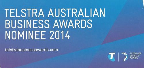 We were honoured to be nominated for the 2014 Telstra Business Awards -