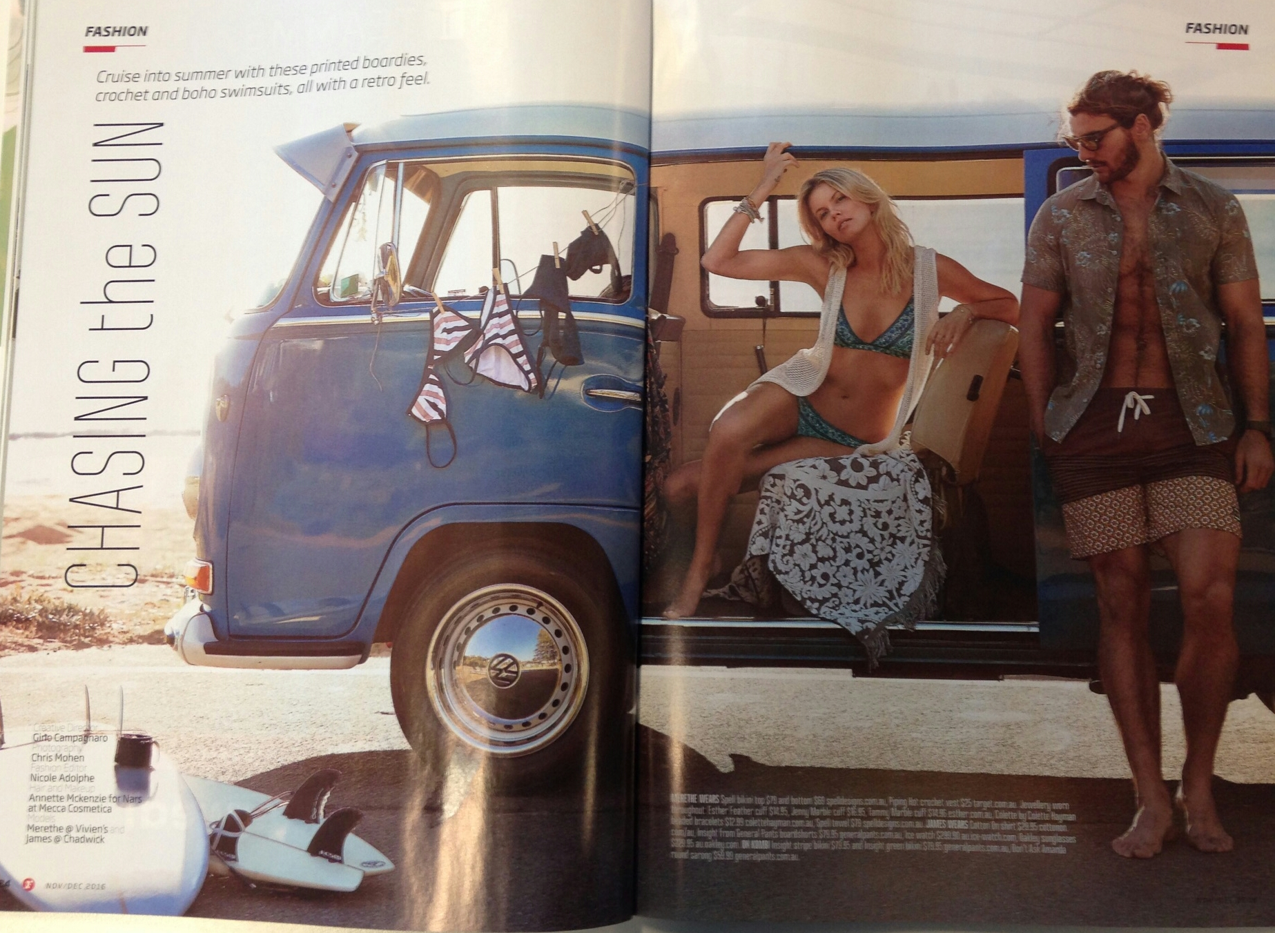 Kombi 'Jo' in a beachwear photoshoot -