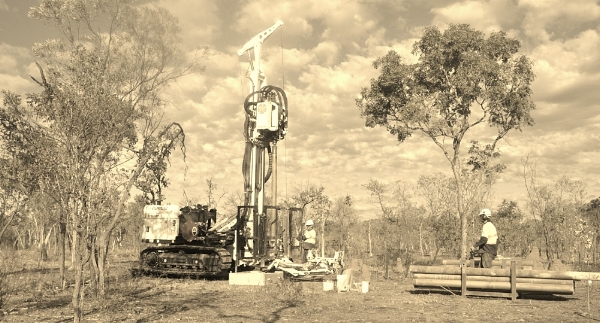 Geoprobe 8140LS Sonic in action on a remote site in the eastern NT Australia.