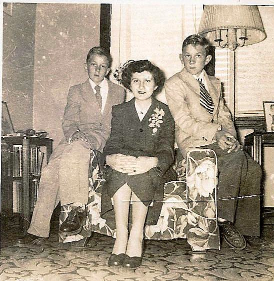 My grandmother, uncle, and father.