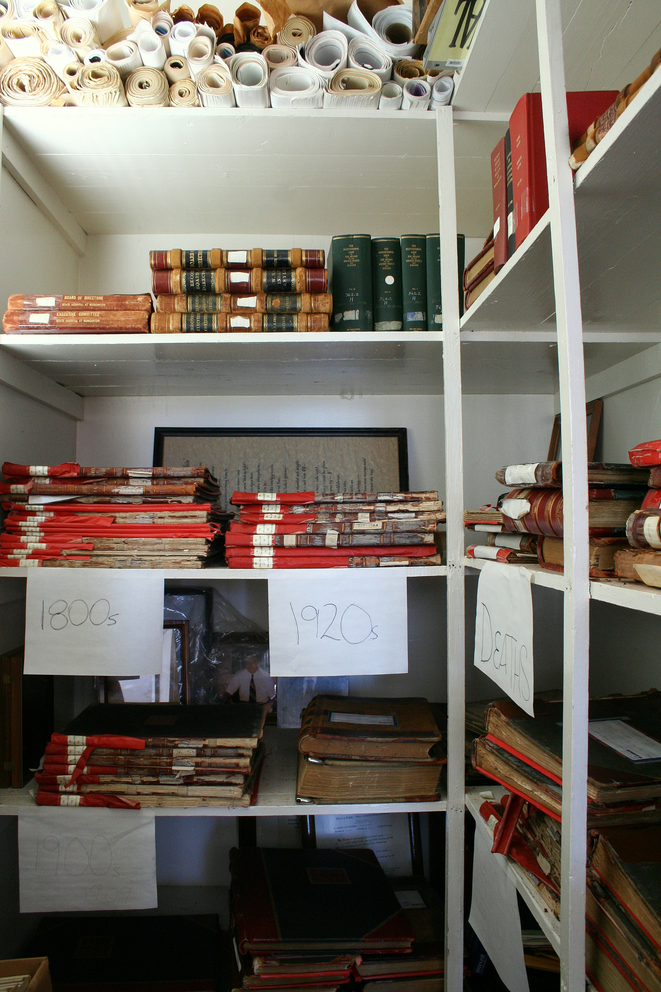 Records closet at Broughton.