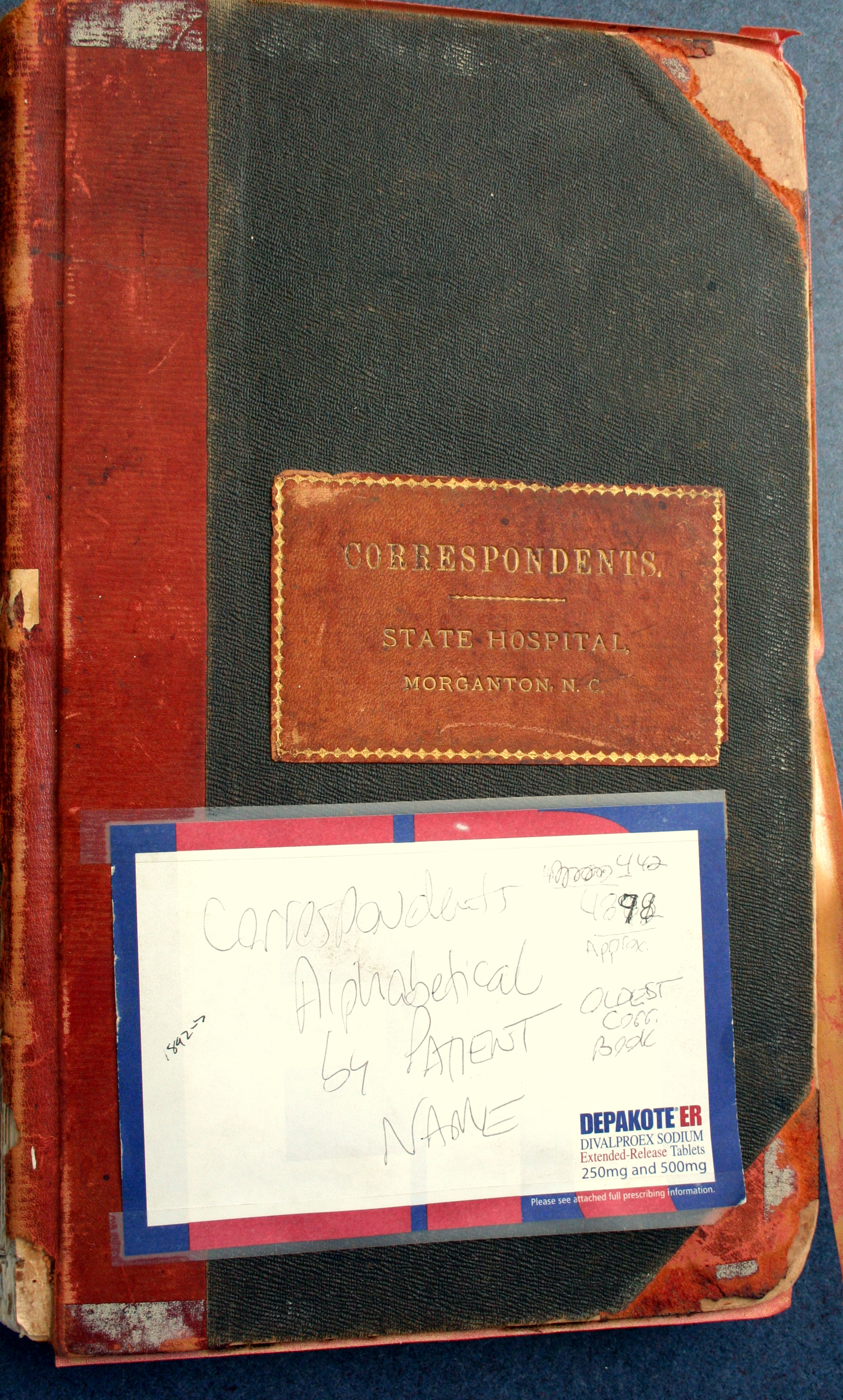 Correspondents book lists person of contact. In Hannah's case, it was her father, DJ English.