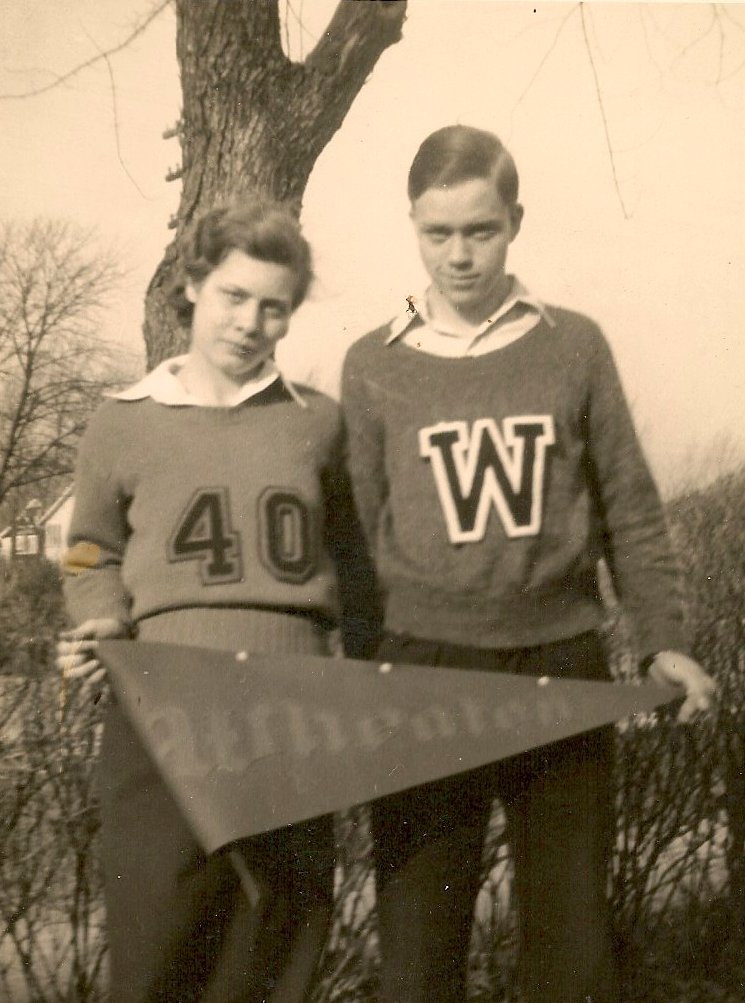 Vickie Prinzing and brother, Wheaton College