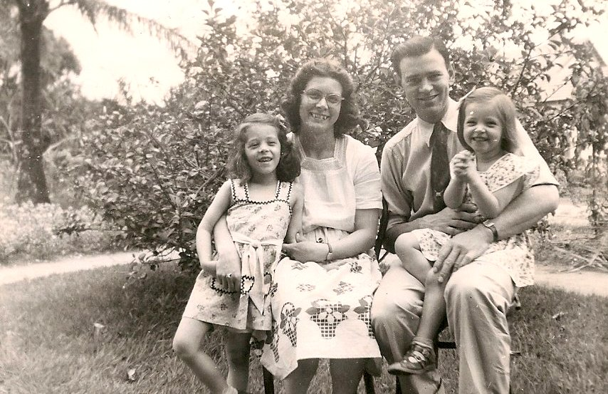 The Buerers during their first year in Africa. Peggy, Vickie, Harry & my mother, Nancy.