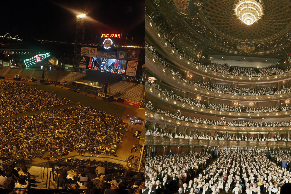 AT&T Ballpark and Interior of the Metropolitan Opera House