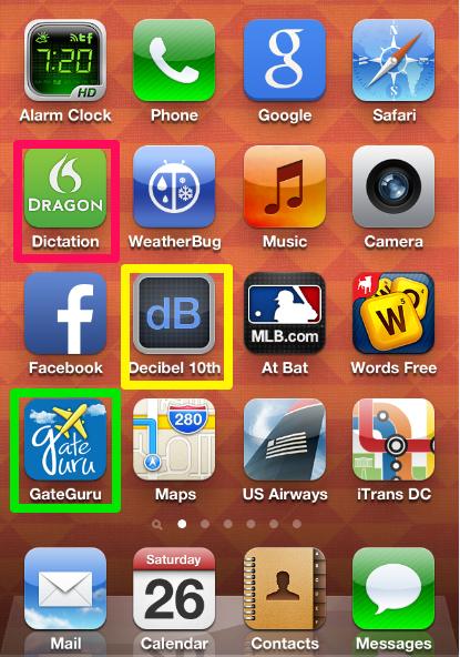 A screenshot of Randy Cohen's iPohne.