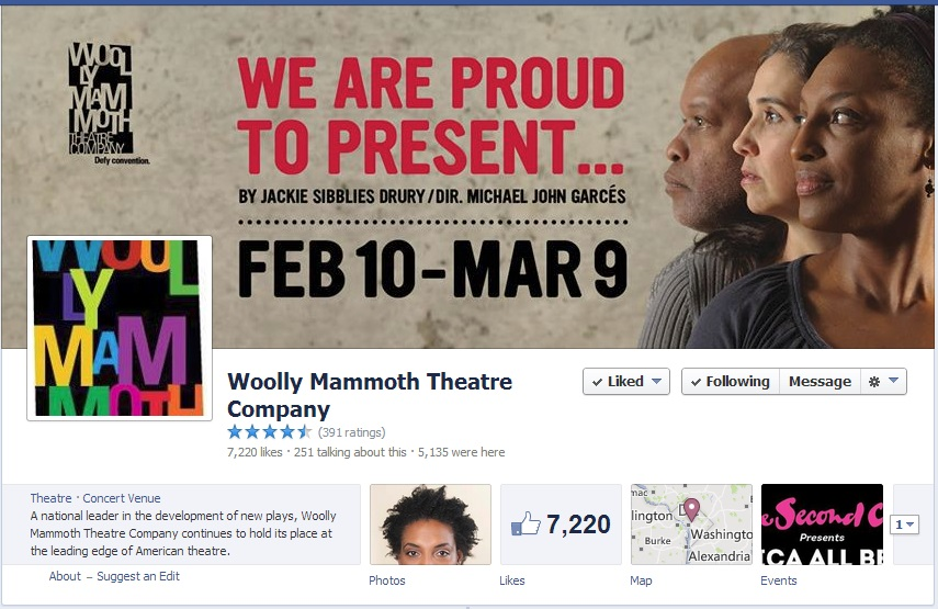 Woolly Mammoth's Facebook Page