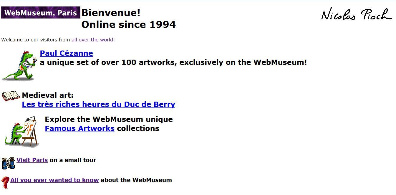 WebMuseum's homepage