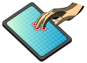 Multi Touch Technology grid, Image courtesy of Wikipedia.