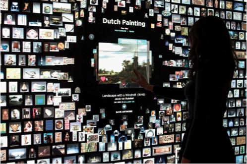 View of Cleveland Museum of Art's Gallery One Interactive Wall. Photo courtesy of   Local Projects  .