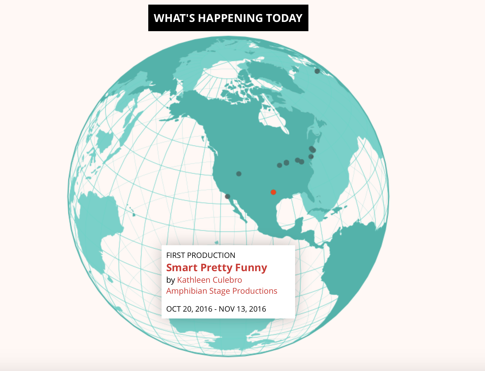 Screenshot of The World Theatre Map