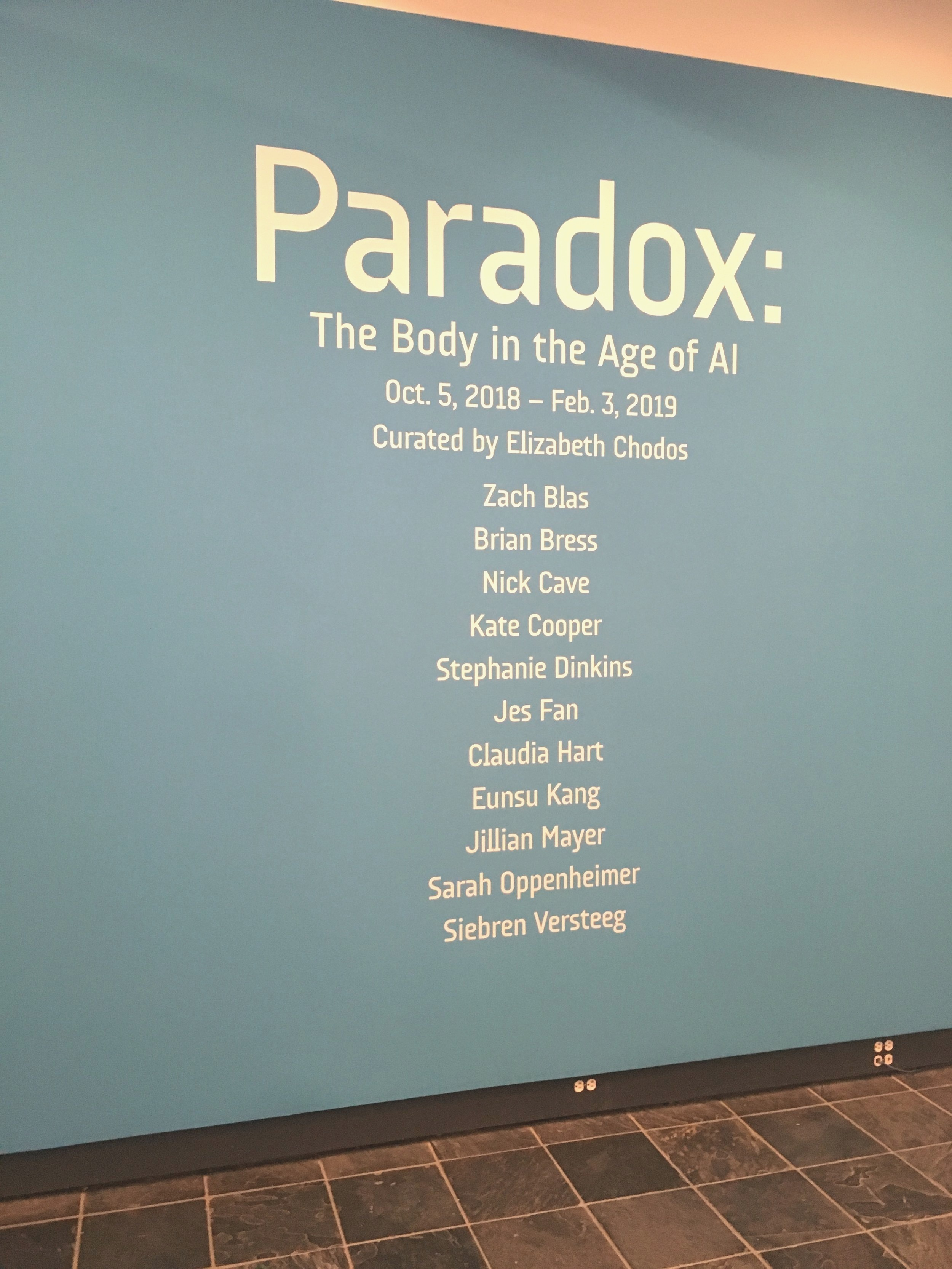 Entrance wall text for the exhibition at the MICA.