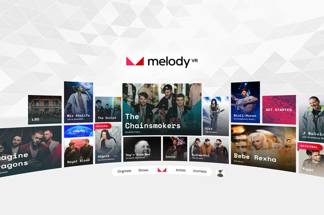 The Melody VR carousel. Source:  Billboard.com , courtesy of MelodyVR