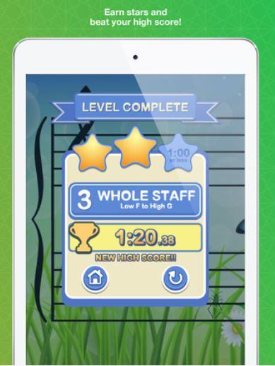 Figure 1. An achievement marker in the Noterush app (Noterush)