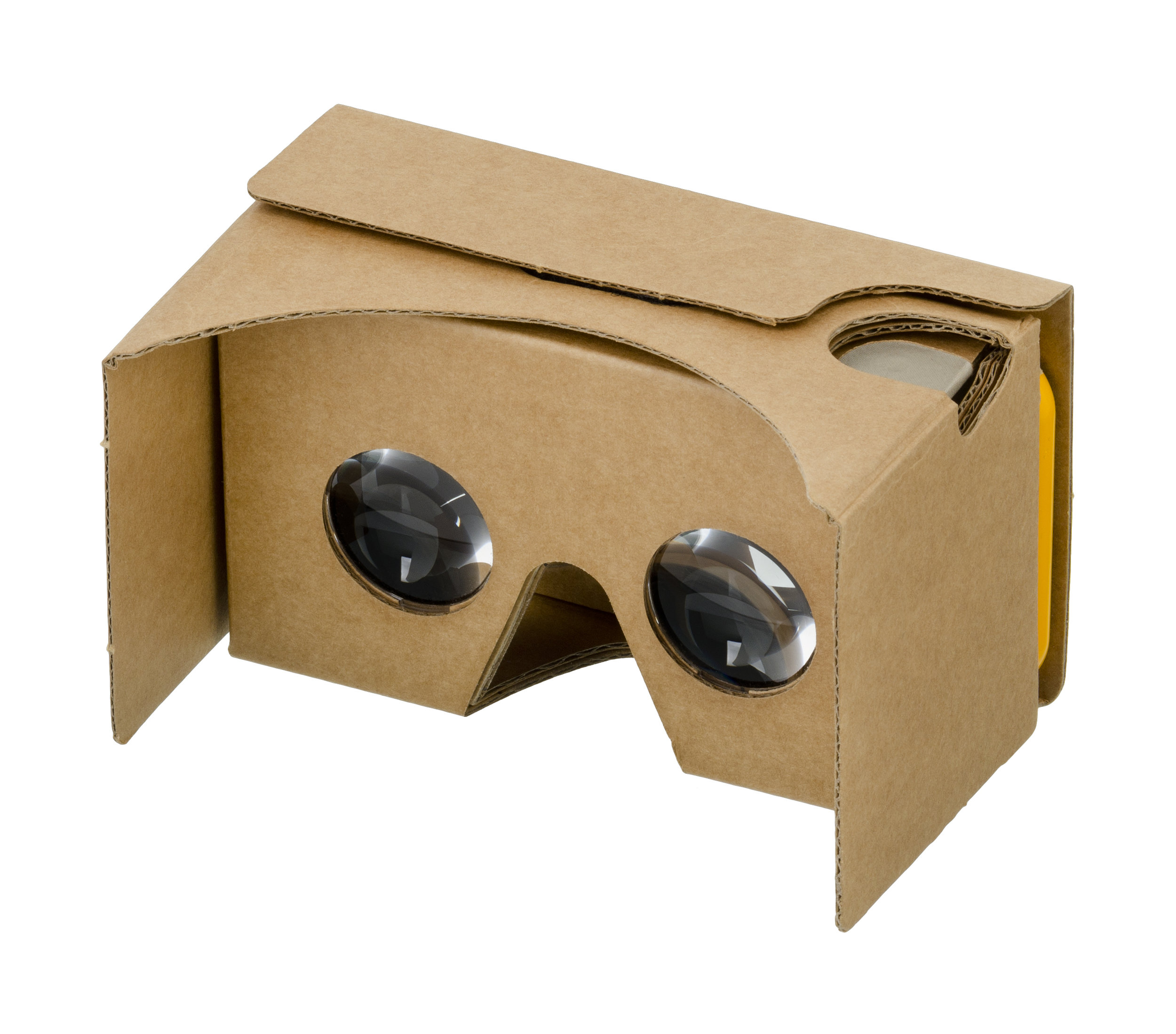 Google Cardboard is one of the more affordable options for VR, but users will not receive the full VR experience with it.  Photo Credit: Wikimedia Commons
