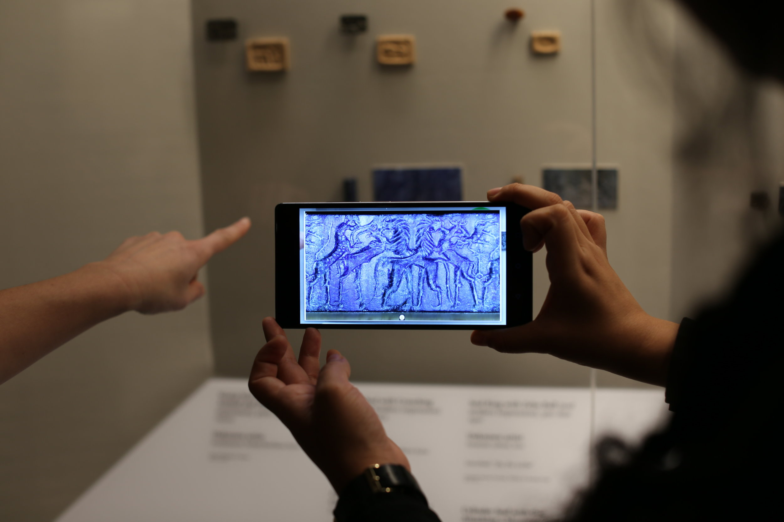 Guests using the Lumin tool at the Detroit Institute of Art. Source: Detroit Institute of Art    https://www.dia.org/lumin