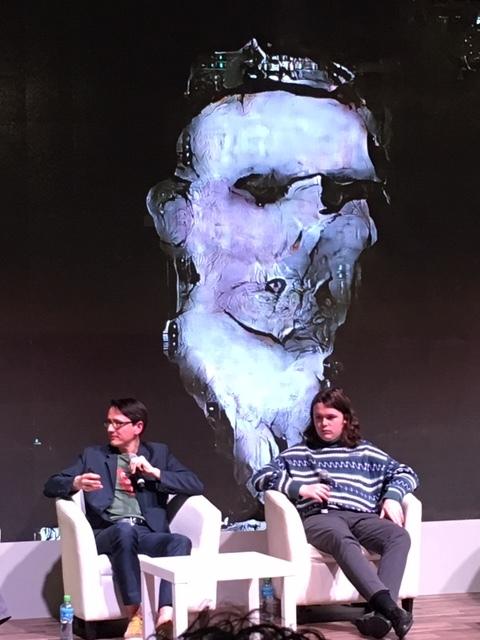 Mario Klingemann  and  Robbie Barrat  discussing their work.